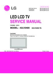 LG 42LV3400 SERVICE MANUAL Pdf Download