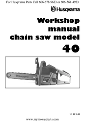 Husqvarna K 40 Workshop Manual
