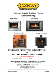 Coonara Royal Classic Manuals