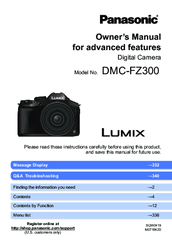 Panasonic Lumix DMC-FZ300 Owner's Manual For Advanced Features