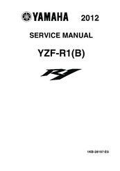 YAMAHA YZF-R1(B) 2012 SERVICE MANUAL Pdf Download