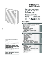 Hitachi EP-A3000 Instruction Manual