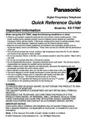 panasonic kx t7667 manuals rh manualslib com Panasonic Kx Phone Manual Tgf350 Panasonic Kx Instruction Manual 4021