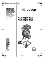 Bosch axt rapid 2000 Operating Instructions Manual