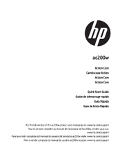 HP Action Cam ac200w Quick Start Manual
