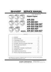 sharp ar 335 manuals rh manualslib com sharp copier parts manual sharp copieur mx-m453n manual