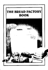 Sanyo Bread Factory Plus SBM20 Recipe Book