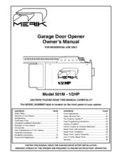 Merik 501m 1 2hp Manuals Manualslib