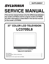 sylvania lc370sl8 manuals rh manualslib com sylvania lc320slx manual pdf Sylvania LC320SLX Remote Control