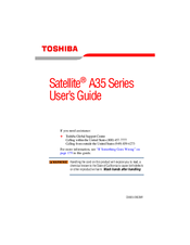 Toshiba Satellite A35 Series User Manual