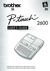 Brother P-touch 2600 User Manual