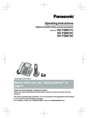 panasonic kx tg6671c operating instructions manual pdf download