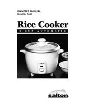 salton ra3a manuals rh manualslib com  salton rice cooker ra3a instructions