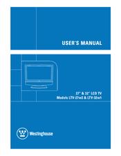 "westinghouse ltv 32w1 hd ready 32 lcd tv manuals rh manualslib com Westinghouse TV Code for TV Westinghouse 32"" TV Manual"