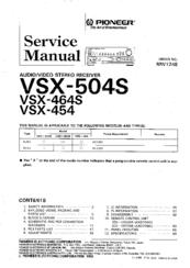 pioneer vsx 454 manuals rh manualslib com VSX Workout VSX Pumps Animation