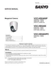 Sanyo VCC-HD5400PC Service Manual
