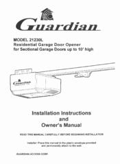 Guardian garage door opener 21230l manual