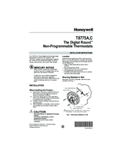 Honeywell THE DIGITAL ROUND T8775A Installation Manual