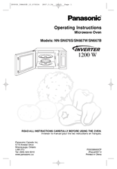 Panasonic NN-SN667B Operating Instructions Manual