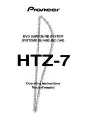 Pioneer HTZ-7 VisionPlus Operating Instructions Manual