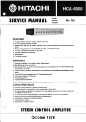 Hitachi HCA-6500 Service Manual