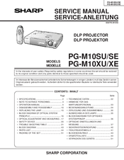 Sharp PG-M10XU Service Manual