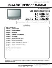 sharp lc32d41u 32 lcd tv manuals rh manualslib com