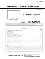 sharp aquos lc 20d42u manuals rh manualslib com sharp aquos lc65e77um service manual sharp aquos lc65e77um service manual