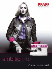 pfaff ambition 1.0 manual