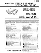Sharp xr10xl notevision xga dlp projector manuals.