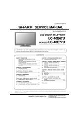 sharp lc 40e67u service manual pdf download rh manualslib com KB Sharp 6525P5 Sharp User Manual