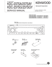 kenwood kdc 237sa service manual pdf download rh manualslib com Kenwood Owner Manual Kenwood KC 991 User Manuals