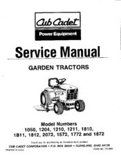 cub cadet 1810 service manual