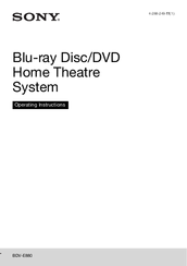Sony BDV-E880 Operating Instructions Manual