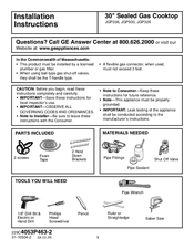 GE JGP636 Installation Instructions Manual
