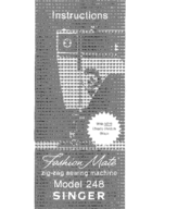 Singer 248 Instructions Manual