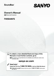 SANYO FWSB405FS OWNER'S MANUAL Pdf Download