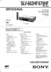 Sony Slv 679hf Video Cassette Recorder Manuals Manualslib