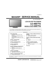 sharp aquos lc 52e77u manuals rh manualslib com KB Sharp 6525P5 Microwave Oven Sharp R 308J