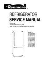 kenmore 795 75002 402 service manual pdf download rh manualslib com Kenmore Refrigerator Troubleshooting Kenmore Refrigerator Model 106