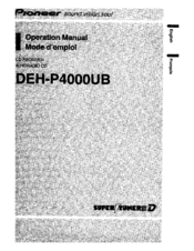pioneer deh p4000ub owners manual
