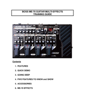 Guitar effect patches for Boss ME-70