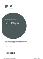 LG DP540H Owner's Manual