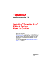 Toshiba /Satellite Pro E40-A User Manual