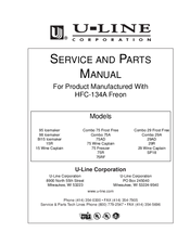 U-LINE 95 ICEMAKER SERVICE AND PARTS MANUAL Pdf Download.