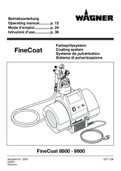 wagner finecoat 9800 manuals rh manualslib com Airless Paint Sprayer Wagner Sprayer Replacement Parts