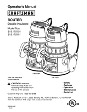 Craftsman 315.175100 Operator's Manual