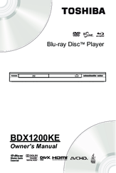 Toshiba BDX1200KE Owner's Manual