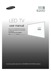 samsung smart tv 6200 user manual pdf download rh manualslib com samsung user manual dvd bd j 57000 com samsung user manual led tv