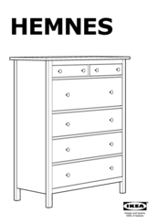 Ikea Hemnes 6 Drawer White Stain Embly Instructions Manual